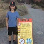 Merlin am Devils Garden Trailhead