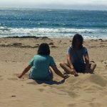 Jalama Beach: Wühlen im Sand
