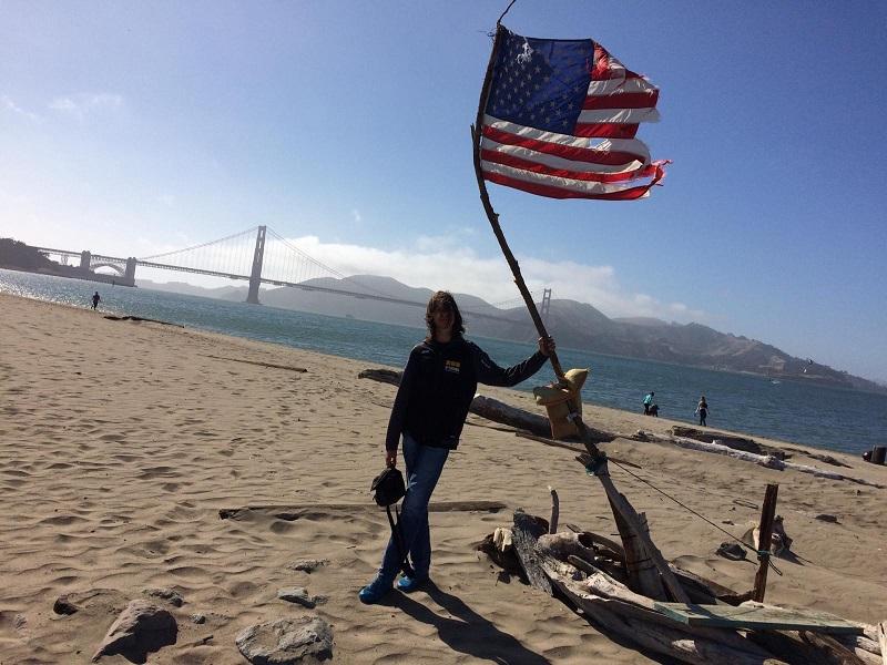 USA Roadtrip Tag 2: San Francisco. Golden Gate Bridge. Mission Dolores Park